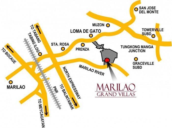 Marilao Grand Villas House And Lot Brgy Loma De Gato Marilao - Marilao map