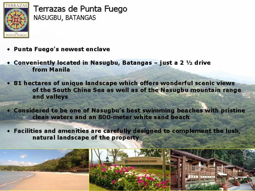Terrazas De Punta Fuego Lot Barangay Natipuan Nasugbu