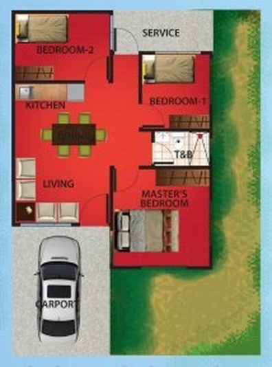 3 Bedroom Single Attached Bungalow Floor Plan And Features