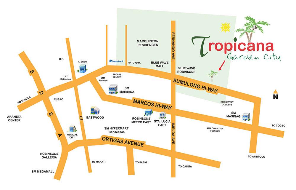 Tropicana Garden City Condominium 1 Biza Tower Sumulong Hwy