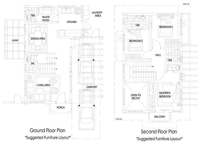 white column carport balcony south forbes villas house and lot sta rosa silang and tagaytay